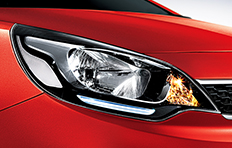 Kia Rio 4-door Exterior LED positioning lamps